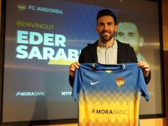Sarabia, en la presentació amb l'Andorra