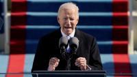 El president dels Estats Units, Joe Biden, durant el seu discurs inaugural.