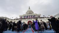Joe Biden és aplaudit poc després de ser proclamat com a nou president.