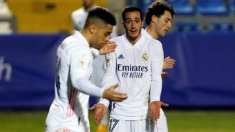 Els jugadors del Madrid no s'ho podien creure.