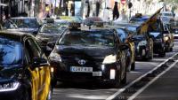 Concentració de taxistes davant la conselleria de Territori i Sostenibilitat