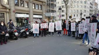 Protesta de veöns del Raval