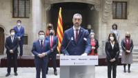 El conseller Solé, amb tot el govern d'ERC i Junts, ahir