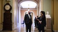 Patrick Leahy, el senador més veterà dels Estats Units, parla amb els periodistes, al Capitoli, a Washington