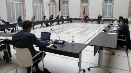 Reunió de la Mesa de grups del Parlament sobre les eleccions del 14-F