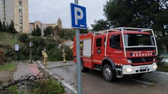 Els Bombers intervenen en les afectacions del fort vent a Cervera