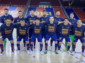 La plantilla li va donar suport abans del Barça-Ribera