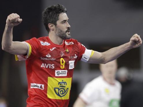 Raúl Entrerríos , escollit el  jugador més valuós del partit, va dirigir l'equip de Jordi Ribera magistralment