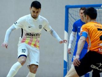 Sepe va marcar el primer gol contra el Ribera Navarra
