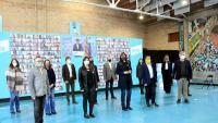 Els primers integrants de la llista de JxCat, durant l'acte de presentació a la seu dels Castellers de Vilafranca