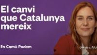 Els comuns se situen com a garants de les polítiques d'esquerres amb el lema de campanya 'El canvi que Catalunya mereix'