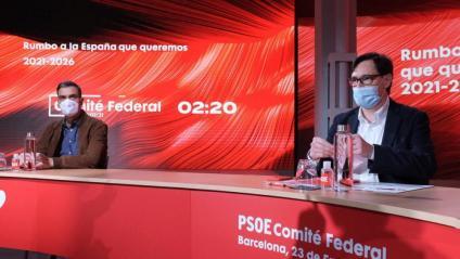 Sánchez i Illa al comitè federal dels socialistes