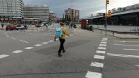 Els dos vials per a trànsit rodat que hi ha davant la façana principal de l'estació desapareixeran