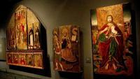 Algunes de les peces de la Franja exposades al Museu de Lleida, que el jutge ordena tornar a les parròquies de Basbastre-Montsó