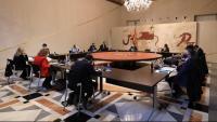 Un moment de la reunió, ahir, del consell executiu