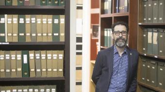 Alberto Velasco, a la biblioteca de l'Institut Amatller d'Art Hispànic
