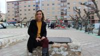 Laia Estrada al barri de Sant Pere i Sant Pau de Tarragona, on va créixer