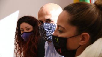 L'alcalde de Parets del Vallès, Jordi Seguer, en roda de premsa el 13 de gener