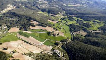 Vista aèria del terme municipal de Querol