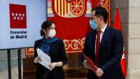 Aguado, amb la presidenta madrilenya, Isabel Díaz Ayuso, dilluns passat