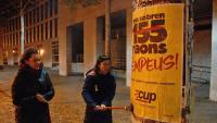 Els partits no podran repetir aquesta nit enganxades de cartells com aquesta de la CUP a Girona abans del 21-D