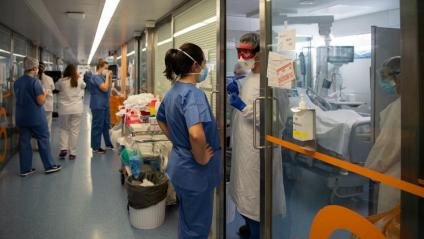 Una UCI de l'Hospital Clínic