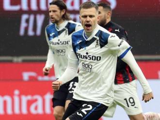 Ilicic celebra un dels tres gols de l'Atalanta contra el Milan