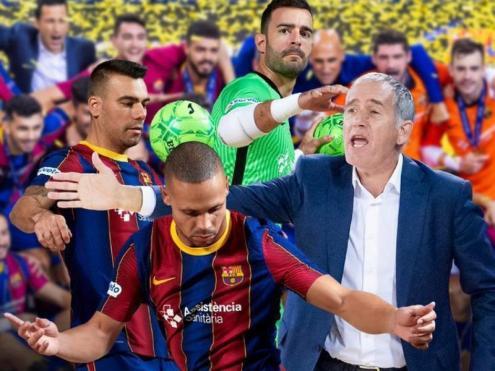 El Barça ha fet aquest cartell en reconeixement dels guardonats i nominats de l'entitat blaugrana en els Futsal Awards