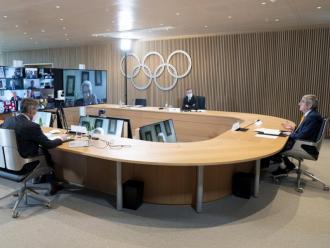 La reunió telemàtica de l'executiva del COI