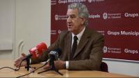 Imatge d'arxiu del 2011 de l'exregidor del PP a Sabadell, Jordi Soriano, anunciant en roda de premsa que no continuaria com a cap de llista del PP a les municipals