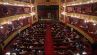 Imatge general del Teatre Municipal de Girona durant una funció del Festival Temporada Alta l'octubre passat