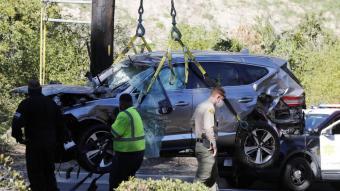 Així va quedar el cotxe de Woods