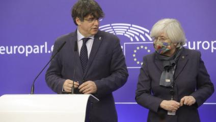 Carles Puigdemont i Clara Ponsatí a Brussel·les