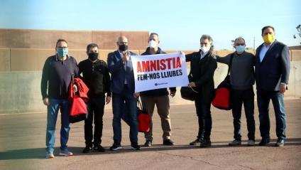 Els presos polítics surten de Lledoners
