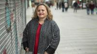 Glòria Casaldàliga, presidenta de la Fundació Pere Casaldàliga, a la Rambla de Barcelona