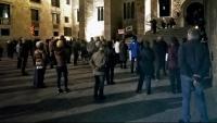 Concentració independentista a la plaça del Rei de Barcelona