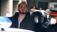 El raper Pablo Hasél en el moment de la seva detenció