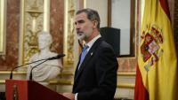 El monarca espanyol, Felip VI, en una imatge del 23-F al Congrés dels Diputats
