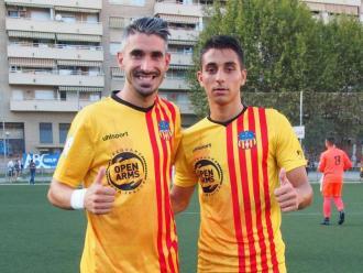 Josu Rodríguez i Ramon Terrats amb el Sant Andreu