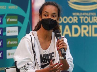 Maria Vicente , en la presentació del míting de Madrid