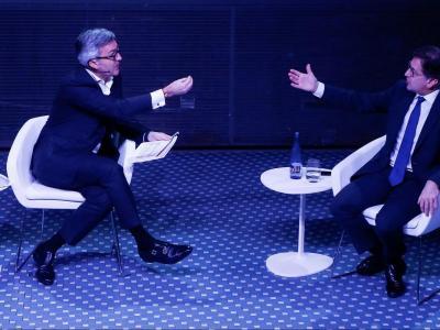 Víctor Font i Toni Freixa, en un dels debats que no  va incloure la participació de Joan Laporta