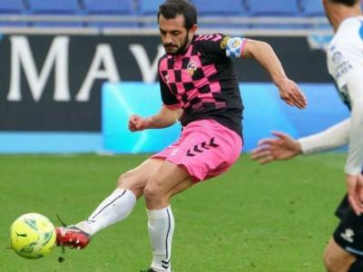 Óscar Rubio llueix un braçalet arlequinat, en el duel entre equips catalans de diumenge passat contra l'Espanyol