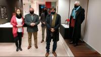 Els exmembres del govern Meritxell Serret, Lluís Puig, Toni Comín, Carles Puigdemont i Clara Ponsatí a la delegació del Govern a Brussel·les el 7 de gener del 2021
