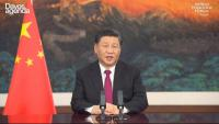 El president xinès, Xi Jinping, durant una intervenció en el passat Fòrum Econòmic Mundial