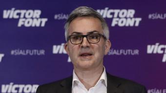 Víctor Font en una roda de premsa