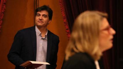 En una imatge d'arxiu, Sergi Sabrià, d'ERC, i Elsa Artadi, de JxCat. Són dues de les persones que encapçalen les converses per a un pacte de govern independentista