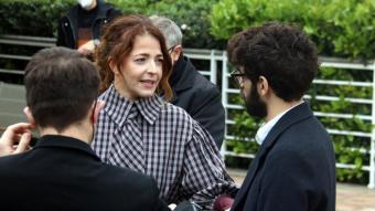 Els actors David Verdaguer i Nora Navas, a la trobada de nominats als Gaudí, a l'Hotel Arts de Barcelona