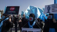 Manifestació contra el tractament de la Xina cap als uigurs de la província de Xinjiang, a Istanbul