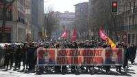 La manifestació que s'ha fet aquest dissabte a Girona
