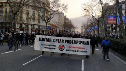 Imatge de la manifestació d'@endavantsants